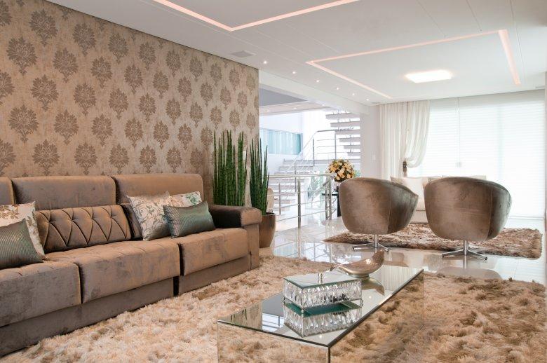 Construindo minha casa clean d vida da leitora como for Sala de estar com um sofa