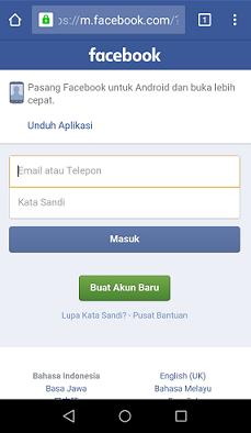 Facebook Versi Lama
