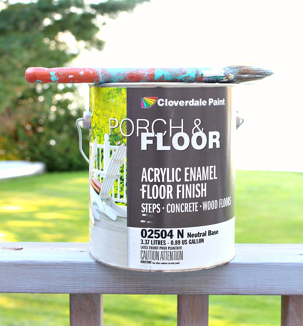 How to Paint a Vinyl Floor | DIY Painted Floors | Dans le ...