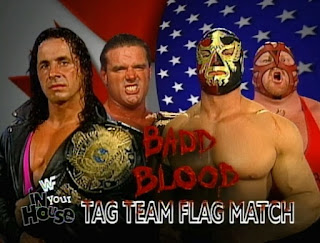 WWE / WWF - In Your House 18: Badd Blood - Bret Hart & British Bulldog vs. The Patriot & Vader in a Tag Team Flag Match