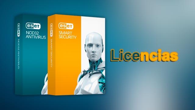 Licencias Eset Smart Security Y Nod32 Antivirus 8 9 10
