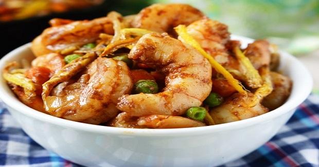 Shrimp With Crispy Ginger Recipe