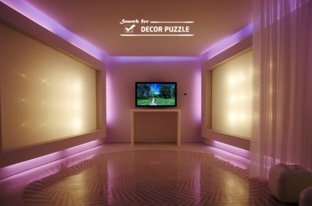 Led Lights On Wall: installing RGB led strip lights, decorative ceiling LED lights,Lighting