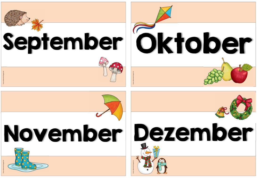 Ideenreise: Monatskarten (Variante)