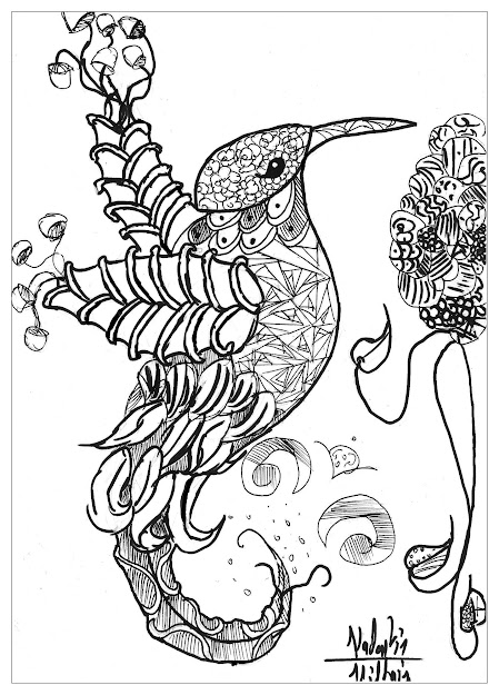 Coloring Page Adults Animals Bird Valentin This Bird Have Particular  Thing No   From The Gallery  Animalsartist  Valentin Print