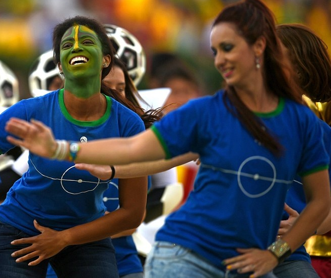 People Performing in World Cup Ceremony 2014