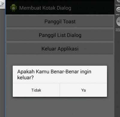 Tutorial Android 5 - Cara Membuat Kotak Dialog
