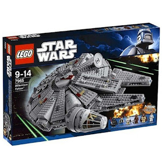 falcon escaping death star lego set