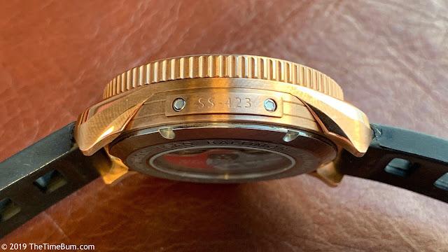 Tsao Baltimore Torsk-Diver bronze, side plate