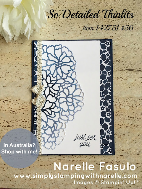So Detailed Thinlits Dies - Simply Stamping with Narelle - shop here - http://bit.ly/2l6E4Du