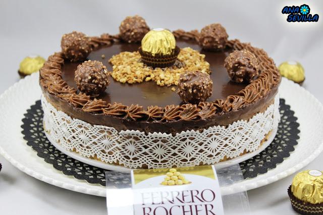 Tarta de Ferrero Rocher y nutella Ana Sevilla cocina tradicional