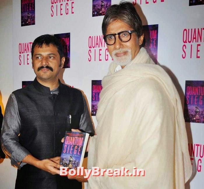 Brijesh Singh, Amithabh Bachchan, Mandira Bedi, Bhagyashree at 'Quantum Siege' Book Launch by Amitabh Bachchan