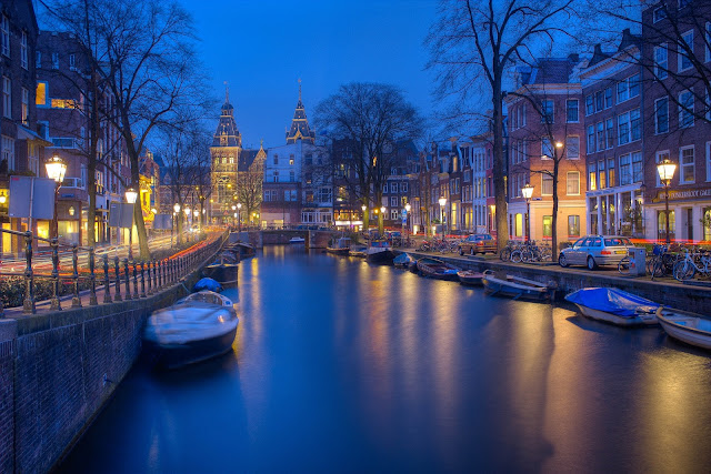 Amsterdam's endless canals are the perfect backdrop for romance.