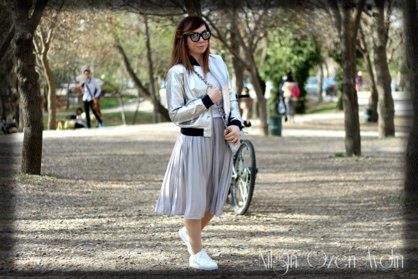 alışveriş-spor ayakkabılar-lame rengi bomber ceket-ODTÜ-fashion blogger-moda blogu