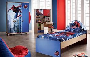 dormitorio hombre araña
