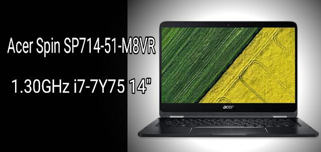 "Spesifikasi Acer Spin SP714-51-M8VR 1.30GHz i7-7Y75 14"""