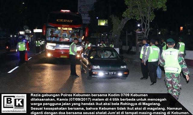 Razia Gabungan Polisi dan TNI, Warga yang Hendak Ikut Aksi ke Magelang Diarahkan untuk Kembali Pulang