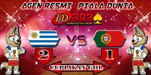 CUPLIKAN GOL URUGUAY 2 - 1 PORTUGAL