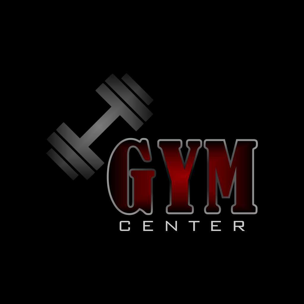 Simple GYM Center Logo Free Download Vector CDR, AI, EPS and PNG Formats