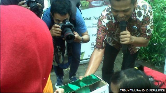 TK Khalifah 3 Makassar sumbang dana untuk korban erupsi sinabung
