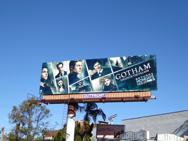 Gotham Wrath of the Villains season 2 billboard