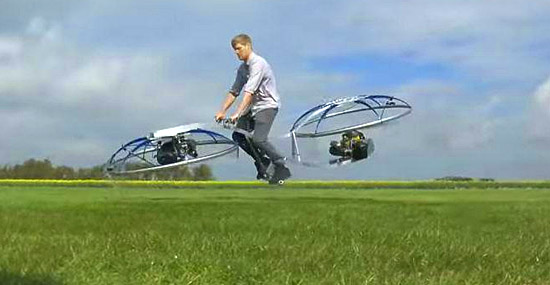 Colin Furze flying bycicle hoverbike