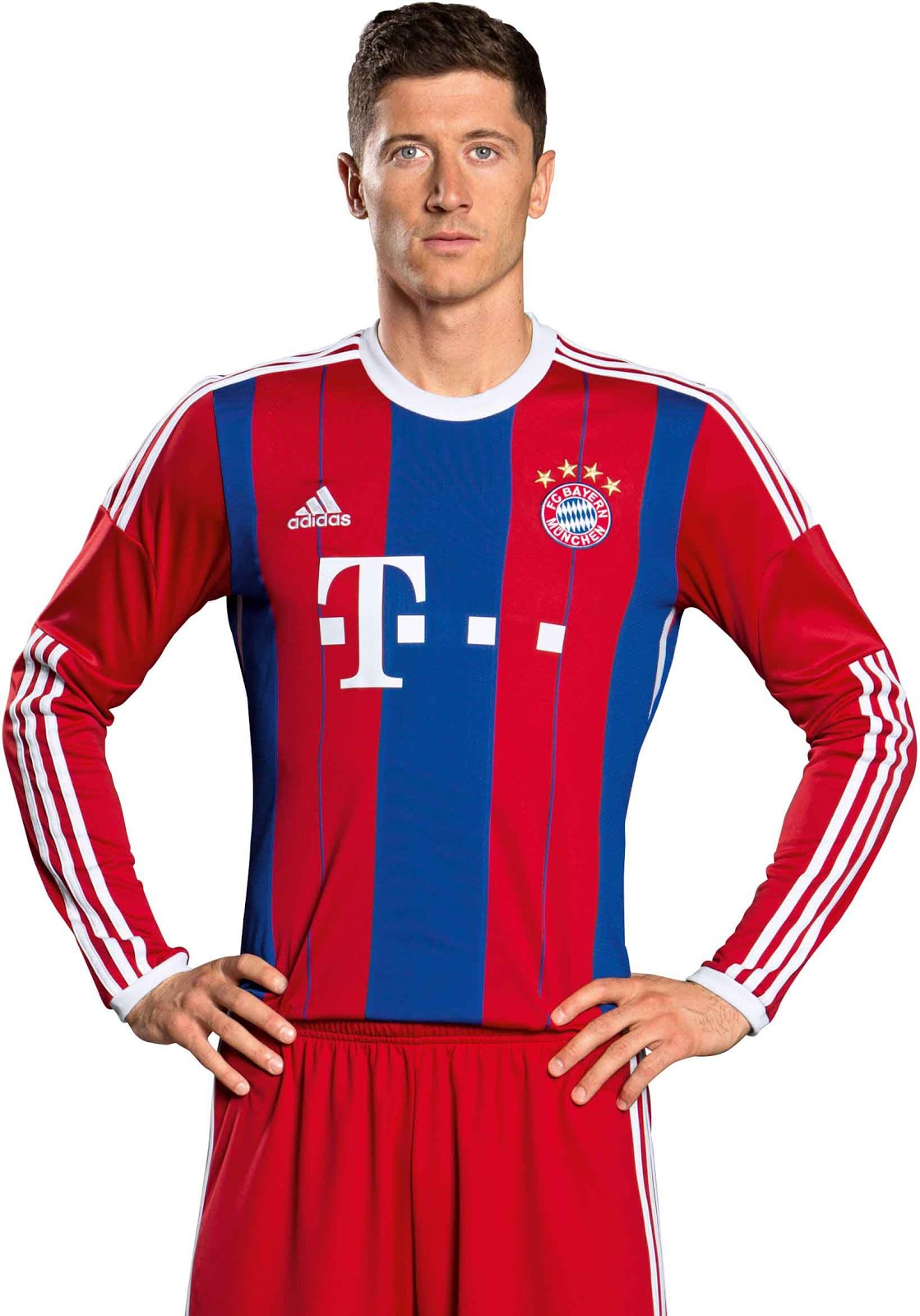 fc bayern m nchen 14 15 home away and third kits footy headlines. Black Bedroom Furniture Sets. Home Design Ideas