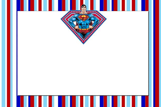 Super Homem Kit Completo Com Molduras Para Convites Rótulos Para