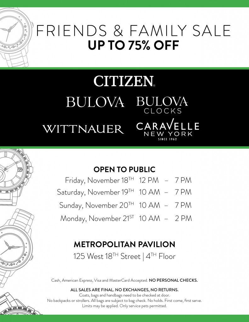 0e98e1a5cf1 fashionably petite  Citizen   Bulova Watches Sample Sale - 11 18 ...