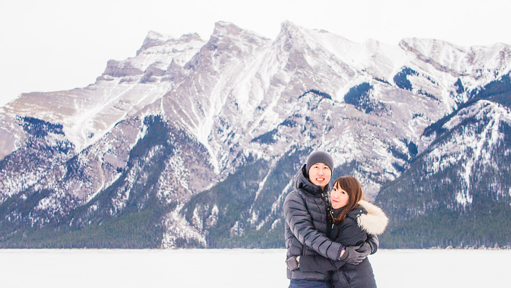 Things We Learned from Our Winter Getaway at -20 Degrees in Banff, Alberta - Frozen Lake Minnewanka Banff Alberta