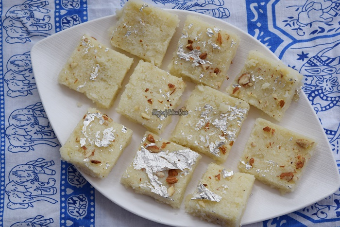 Nariyal-Ki-Barfi-Quick-Coconut-Mawa-Burfi-Diwali-Sweets-Recipe-Magic-of-Indian-Rasoi-Priya R