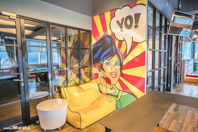 contoh mural di kantor aegon