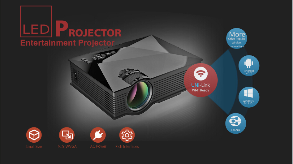 MINI PROJECTOR UC46 WIfi 2,990 B