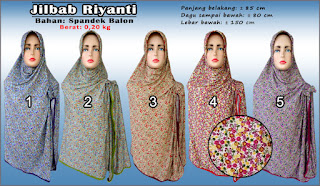 Jilbab riyanti terbaru dengan harga murah