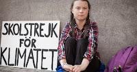 Greta Thunberg: climate strike (Credit: #GretaThunberg) Click to Enlarge.