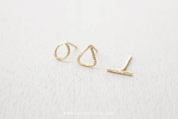 Γεωμετρικά σκουλαρίκια με σύρμα