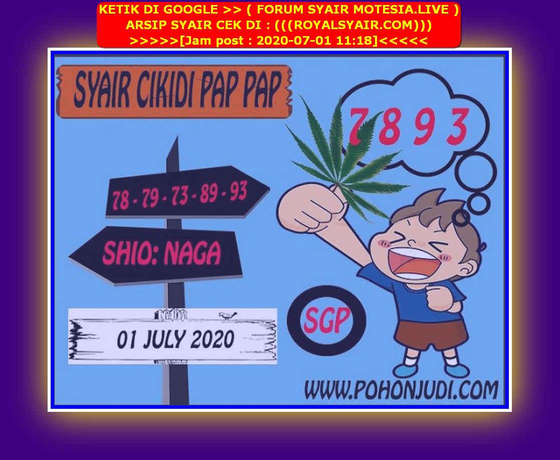Kode syair Singapore Rabu 1 Juli 2020 127