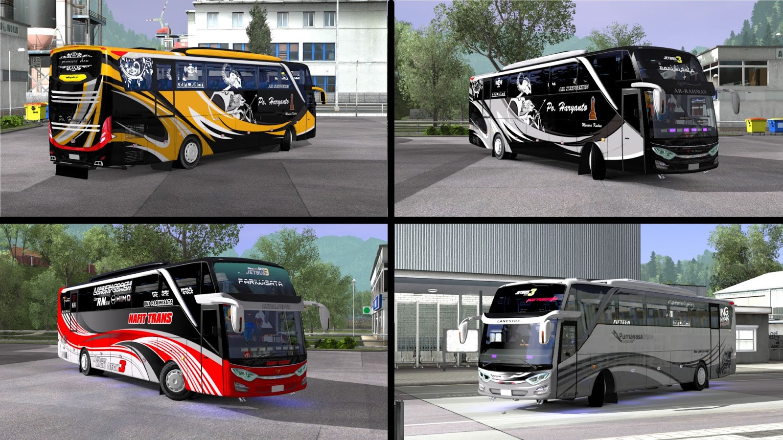Livery Pack By Brf For Jetbus 3 Shd Mod Ets2 Indonesia