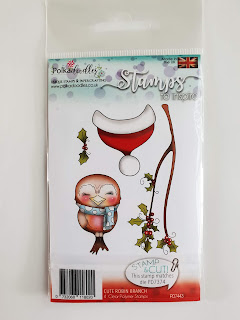 Cute Robin Branch Stampset and Die Cut set