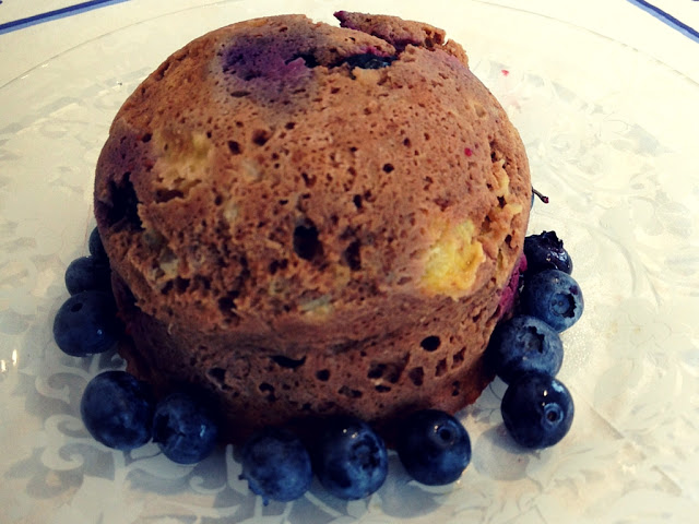 large grain free blueberry muffin