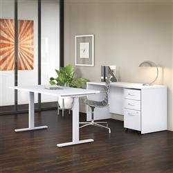 white ergonomic office furniture