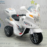PMB M01 911 Police Battery Toy Motorcycle White
