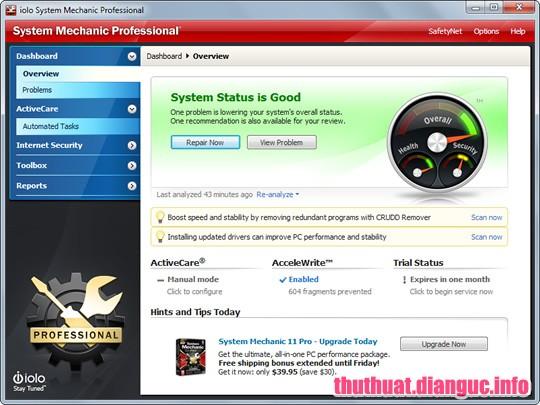 tie-mediumDownload System Mechanic Pro 18.5.1.208 – Phần mềm tối ưu hóa máy tính