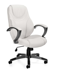 White Luxhide Office Chair