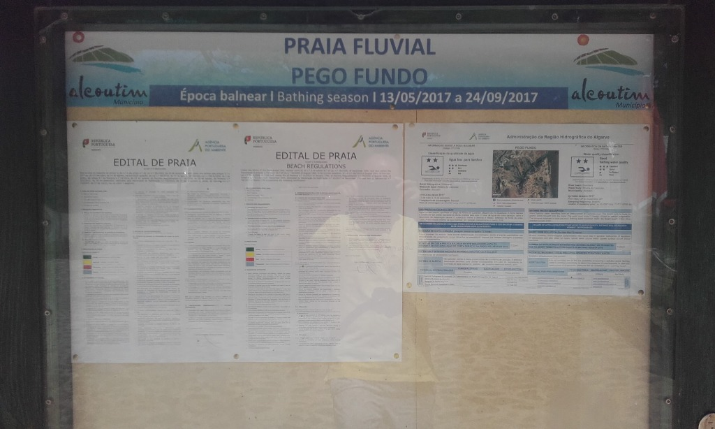 Praia Fluvial pego Fundo - Placa