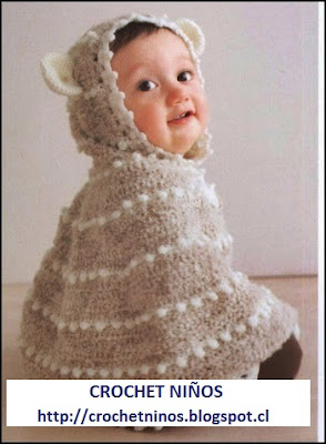 Capita de niño a crochet