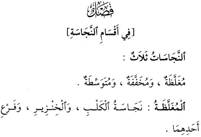 Pengertian dan Contoh 3 Jenis Najis ( Mughallazhah, Mukhaffafah, Mutawassithah )