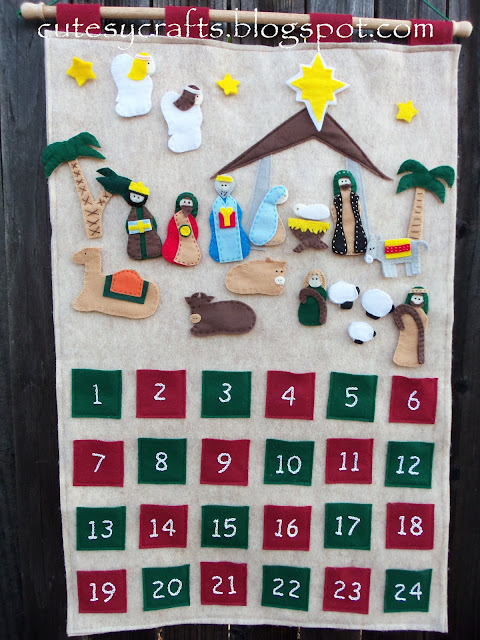 DIY Nativity Felt Board Advent Calendar Craft