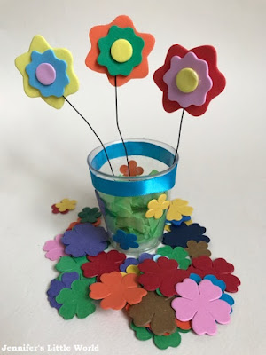 Spring flowers craft for children