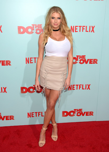 Actress, Model, @ Charlotte McKinney - Netflix's 'The Do Over' Premiere in LA